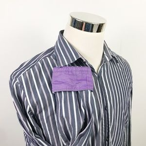 Hugo Boss Mens Large Casual Button Front Shirt